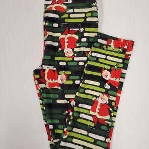 Tween Leggings Santa LuLaRoe NWT